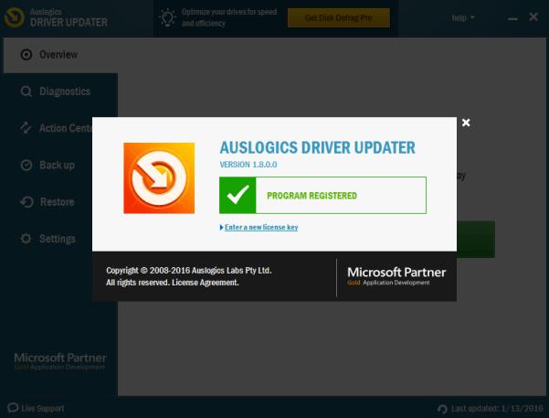 registration key for driver updater